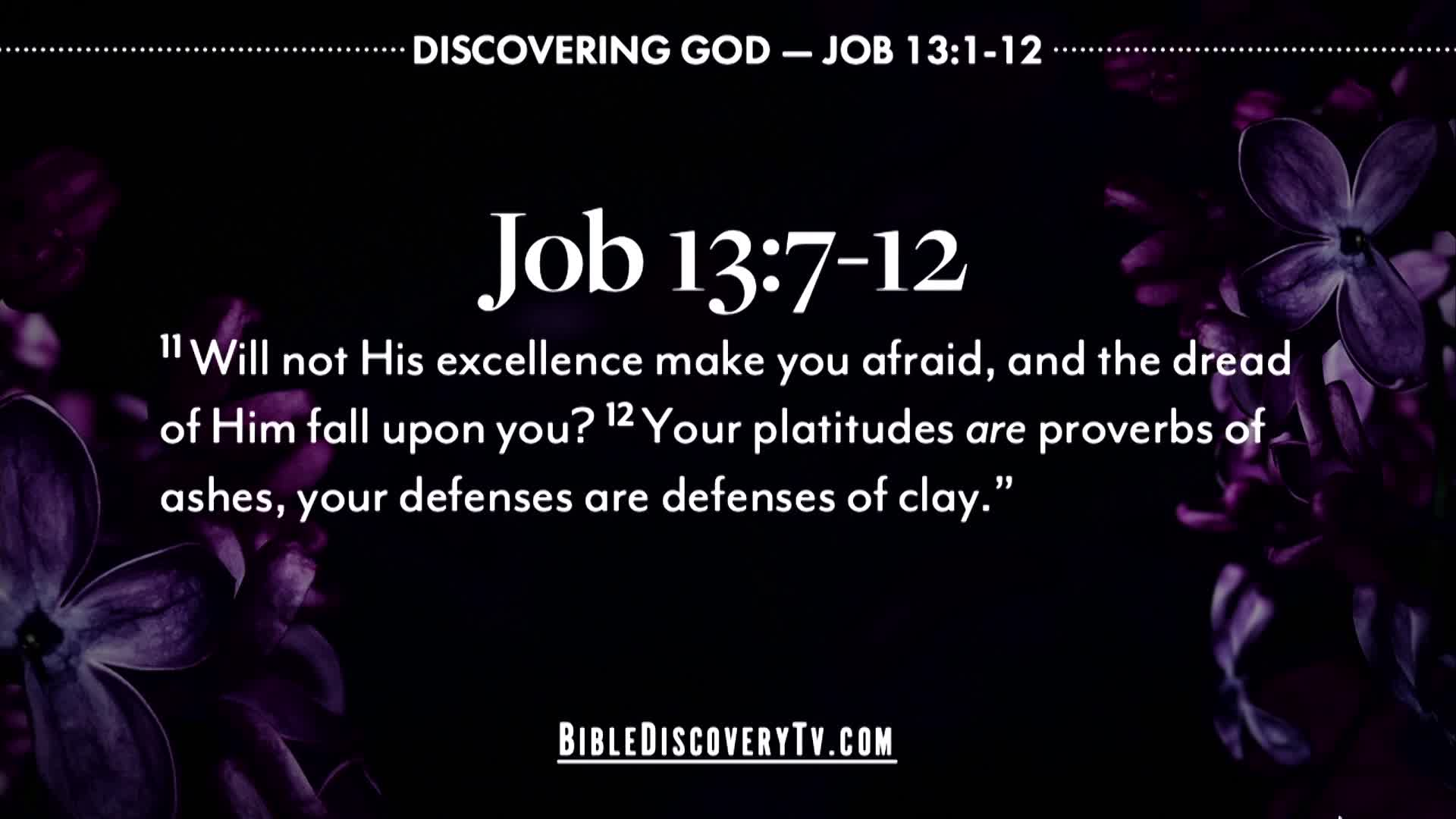 Bible Discovery - Job 2 Speaking For God