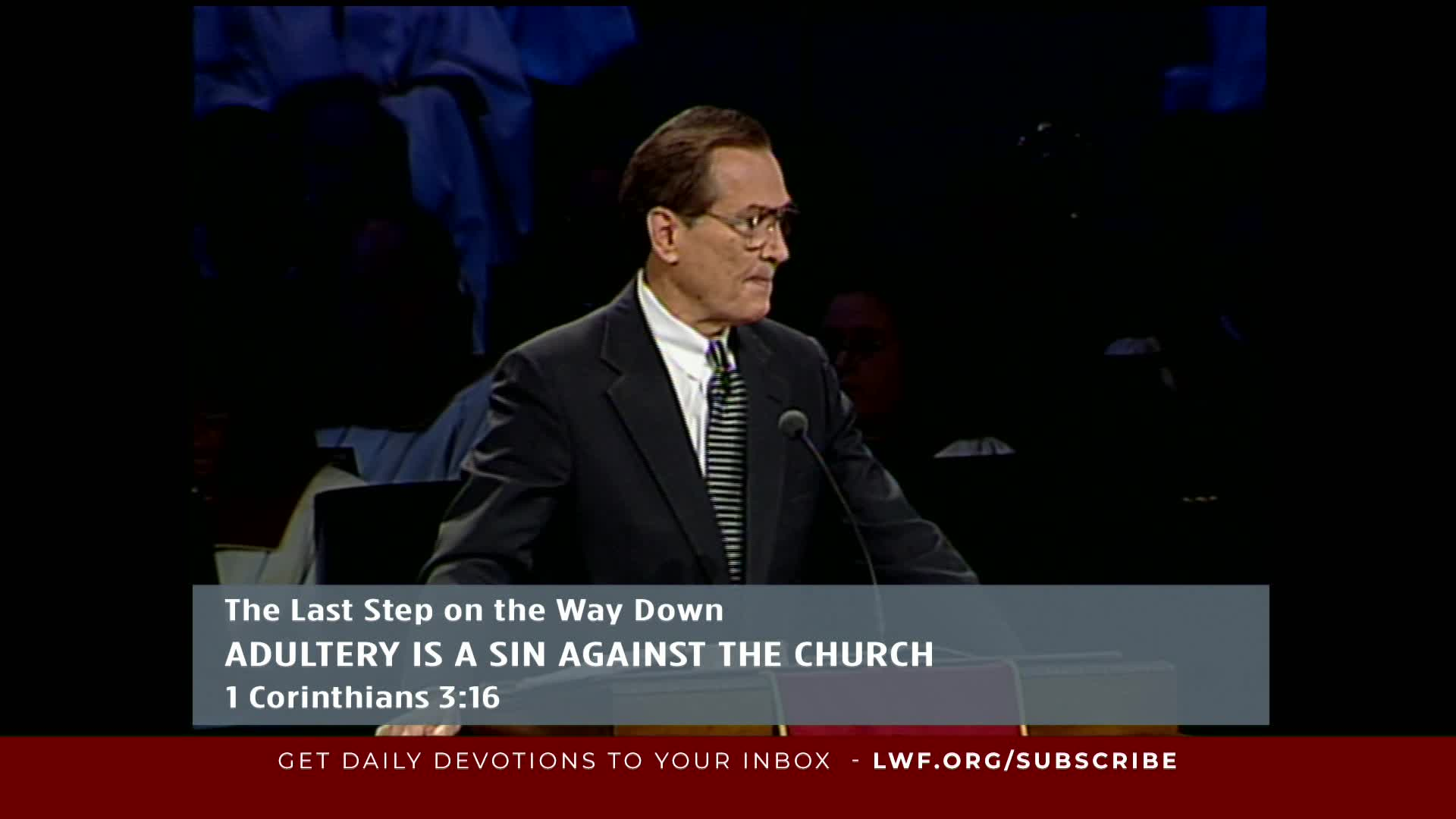 Adrian Rogers - The Last Step On The Way Down