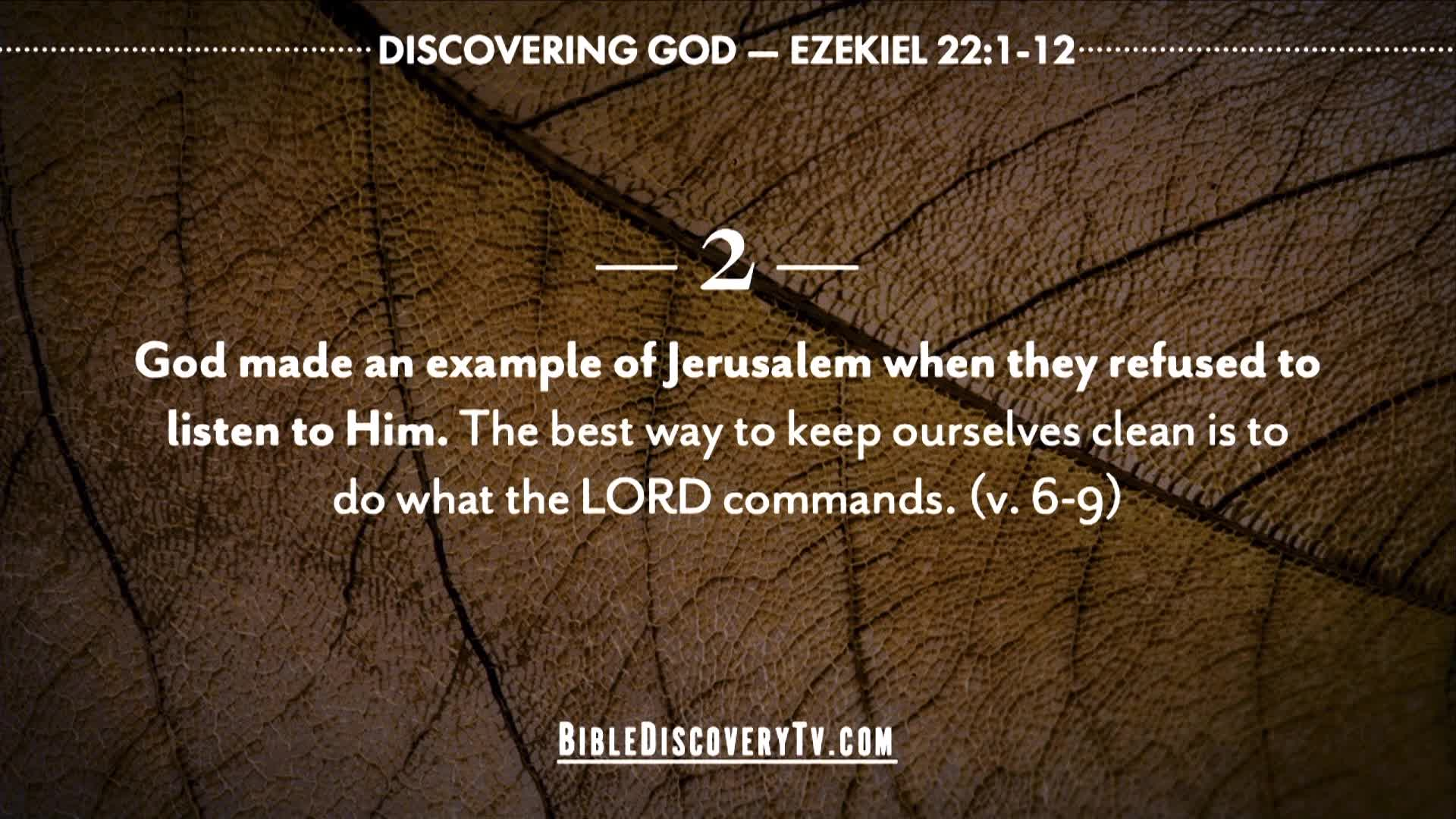 Bible Discovery - Ezekiel 22 The Result of Sin