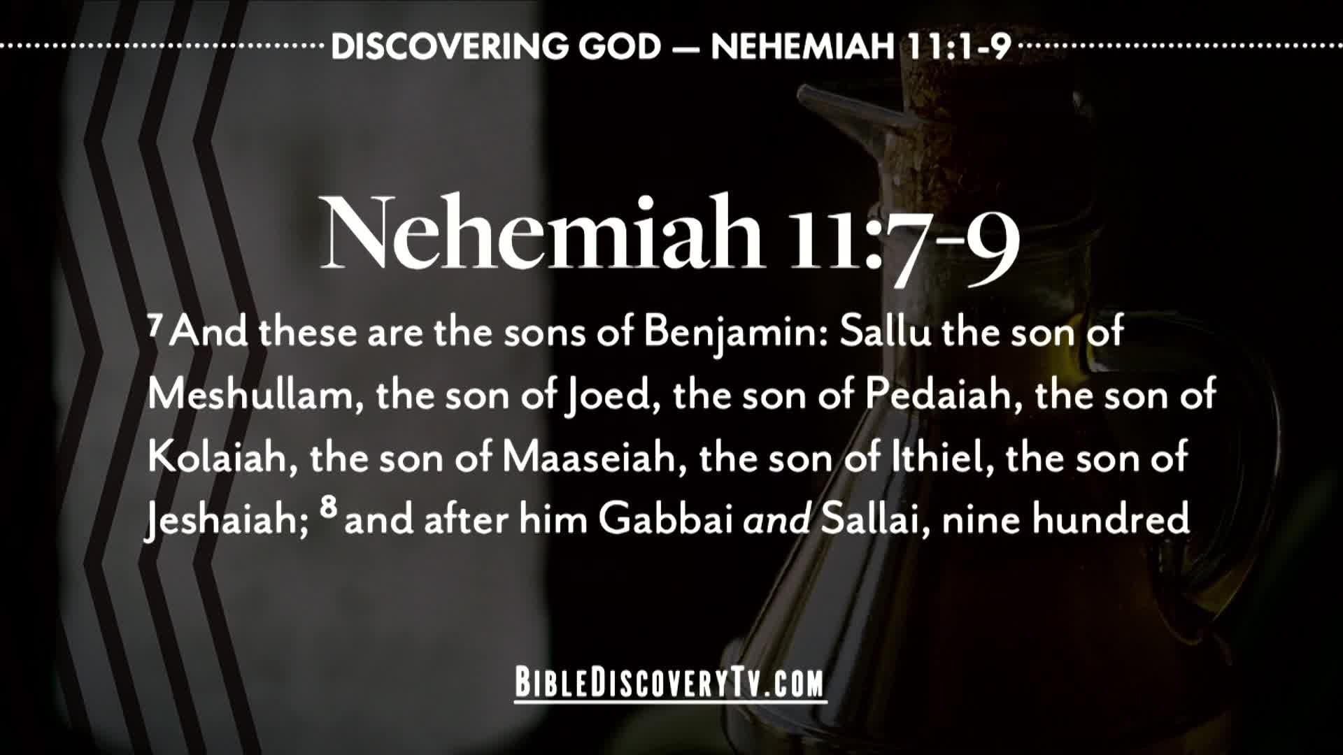Bible Discovery - Nehemiah 11 Living in Jerusalem