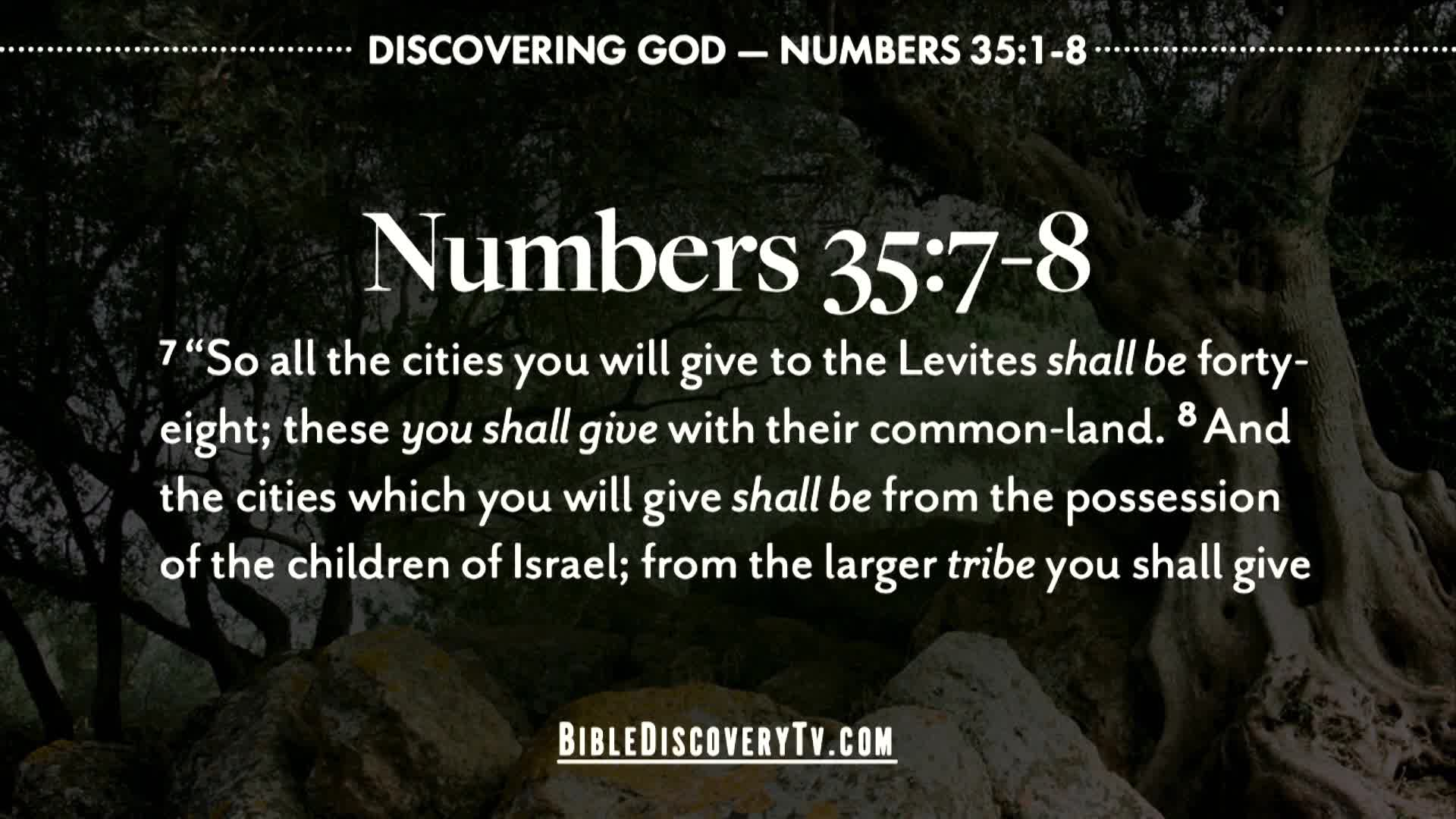 Bible Discovery - Numbers 35 Cities of the Levites