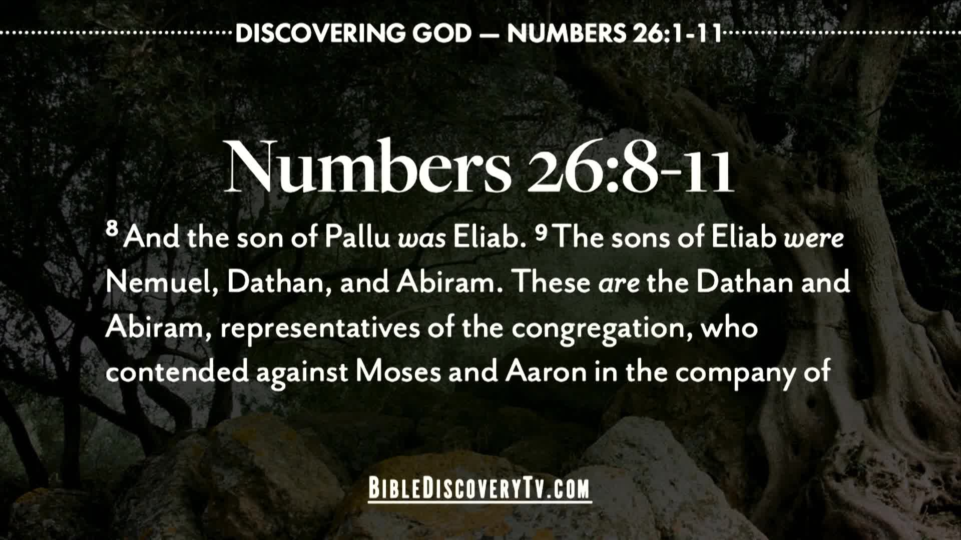 Bible Discovery - Numbers 26 Israel Is a Nation